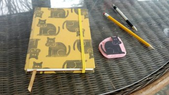 cat journal yellow